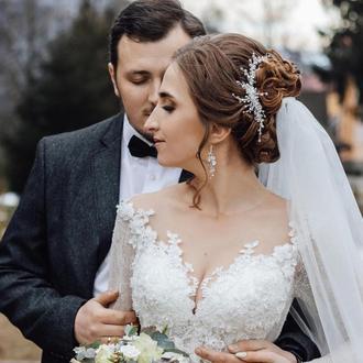 Свадебное украшение для волос, свадебная заколка, украшение в прическу, прикраса у зачіску
