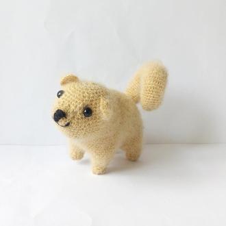 Породиста собака, м'яка іграшка, в'язана гачком