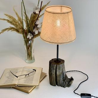 Современный дубовый светильник  Лампа с абажуром Уникальный подарок Подарок для мамы