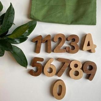 Цифри. Цифри з дерева. Цифри на магнітах