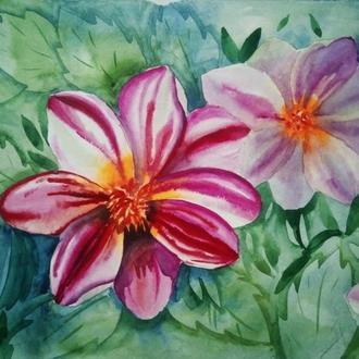 "картина акварель ""цветы"""