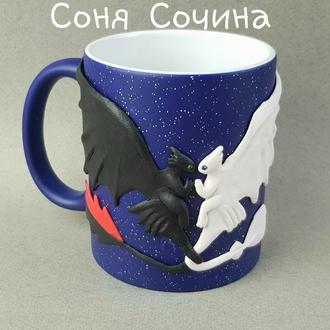 Игрушка БЕЗЗУБИК ДНЕВНАЯ ФУРИЯ кружка хамелеон подарок чашка с декором