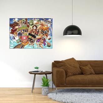 """Плакат-постер с принтом """"One Piece - Большой куш (сёнэн манга, аниме) 1"""""""