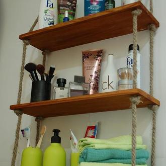 Полка настенная для косметики, кремов, парфюмерии, для ванной комнаты