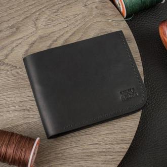 Кожаный кошелек (Черный) Middler