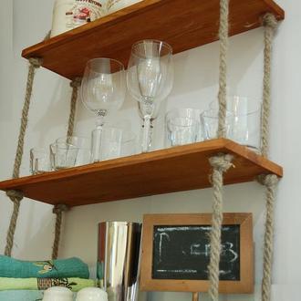 Полка настенная для кухонной посуды, специй, полотенец