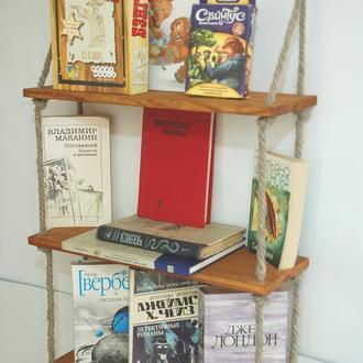 Полка настенная для книг, фоторамок, настольных игр