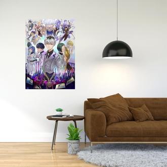 """Плакат-постер с принтом """"Tokyo Ghoul - Токийский гуль (манга в жанре тёмного фэнтези, аниме) 6"""""""