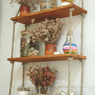 Полка настенная для цветов, вазочек, свечей, морских ракушек