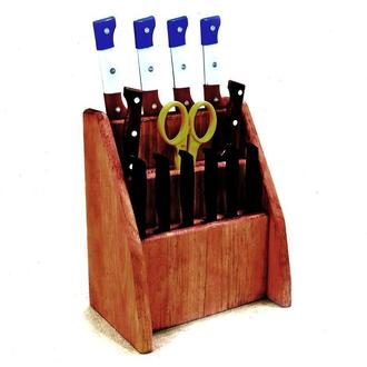 "Подставка для ножей ""Морелия 3"" шафран"
