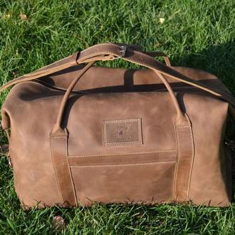 Большая мужсксая сумка из натуральной кожи