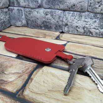 Ключница из натуральной кожи Kl01-red capri