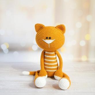 Кот.Первая игрушка. Эко-игрушка. Подарок новорождённому.