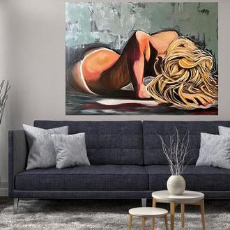 """Картина маслом галерейной натяжки """"Страсть"""" 60х80см"""