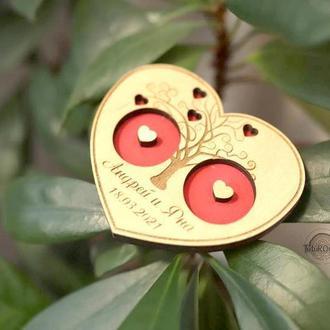 Шкатулка деревянная свадебная