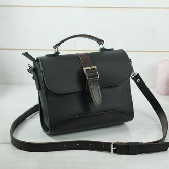 Женская сумочка Марта, кожа Grand, цвет черный
