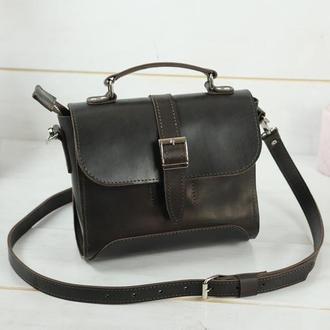 Женская сумочка Марта, Кожа Итальянский краст, цвет кофе