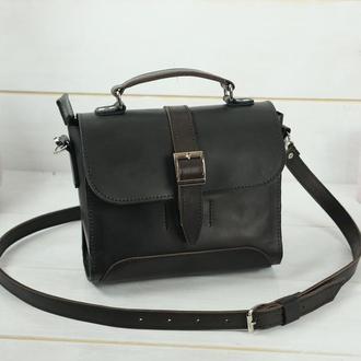 Женская сумочка Марта, Кожа Итальянский краст, цвет черный