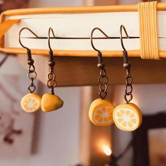 """Сережки """"Лимоны"""""""