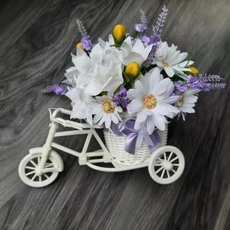 """Цветочный велосипед """" Лавандовое настроение""""."""