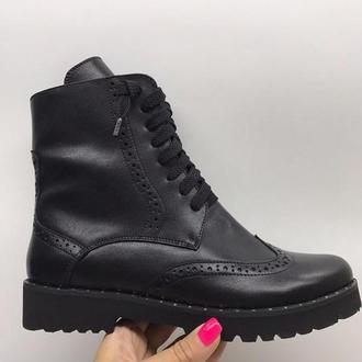 ботинки женские из натуральной кожи