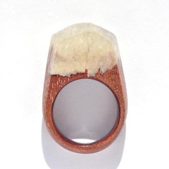 Кольцо из дерева с эпоксидной смолой (642)