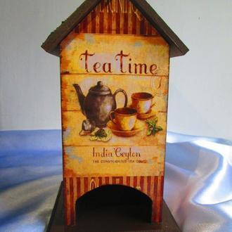 Чайный домик, дом для чайных пакетиков ′Tea time′ для кухни