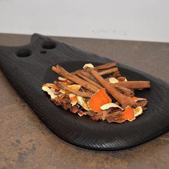 Элегантная тарелка-кошка из массива дуба с обжигом, тарелка из дерева, доска для подачи