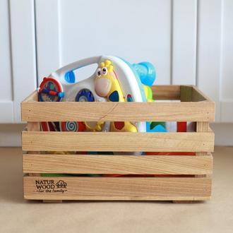 Ящик деревянный для игрушек (40 х 30 х 22 см)