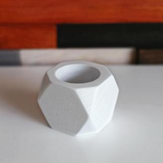 Белое деревянное кашпо для мха 6*7см