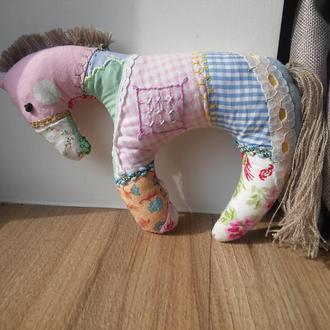 Лошадка Лала. Текстильная игрушка для ребенка. Конячка. Лошадь. Тряпичкая кукла примитив