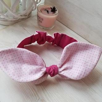 Солоха детская двусторонняя повязка на голову для девочки