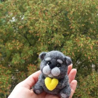 Игрушка мишка с сердцем