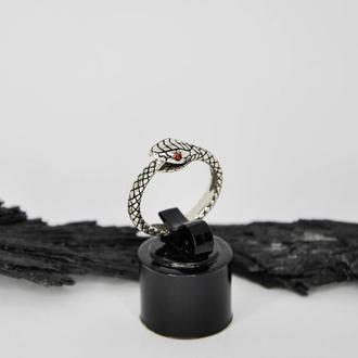 Серебряное кольцо Уроборос