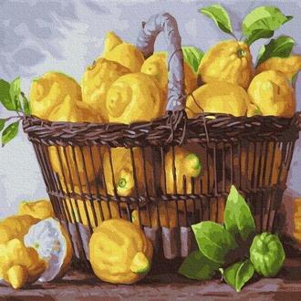 Лимонная корзина, 40х50 (GX37733)