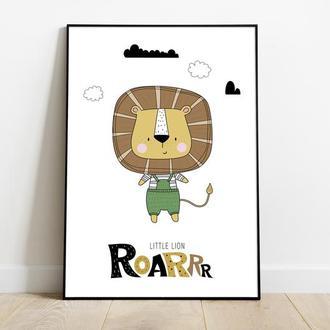 Постер львенок