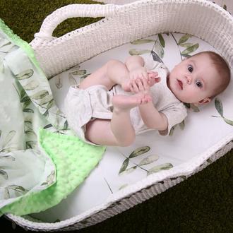 Комплект в детскую люльку - наматрасник и плед Olive
