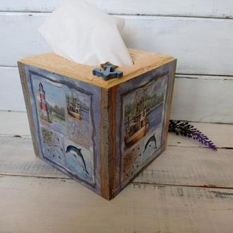 Короб для салфеток в морском стиле