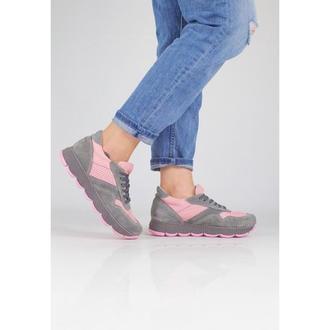 Кроссовки с перфорацией DASTI Waves серо-розовые
