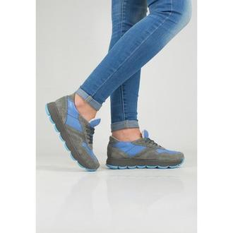 Кроссовки с перфорацией DASTI Waves серо-синие