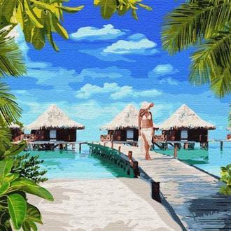 Відпочинок на Мальдівах, 40х50 (KHO4764)