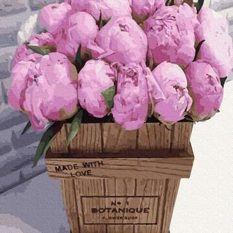 Букет розовых пионов, 40x50 (GX36092)