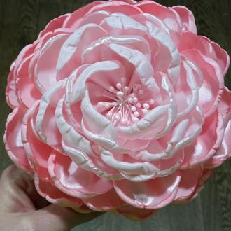 Ободок с большим цветком