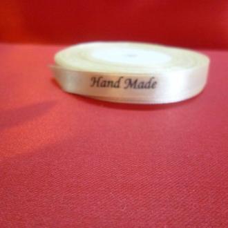 "Атласная лента 0,9 см ""Hand Made"", 28 грн. за бобину 20 ярдов."