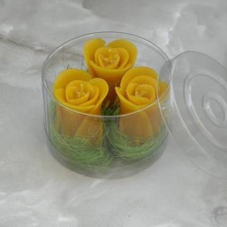 """Набор восковых свечей """"Бутон розы"""""""