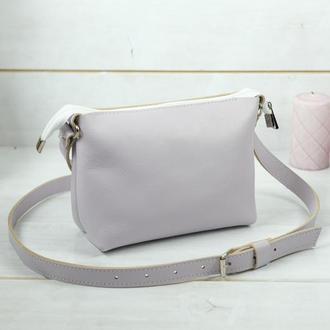 Женская сумочка Лето, гладкая кожа, цвет лиловый