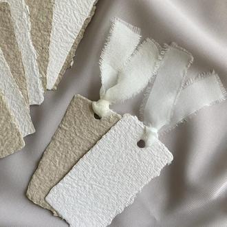 Бирочки / карточки рассадки из бумаги ручного литья