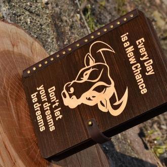 Деревянный блокнот натуральная кожа, блокнот из дерева и кожи, блокнот в подарок,блокноты для записи