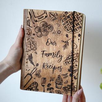 Книга для записи кулинарних рецептов