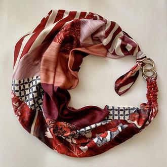 """Дизайнерский  платок """"Вечер в Сорренто """"  my scarf, шейный платок, подарок женщине"""